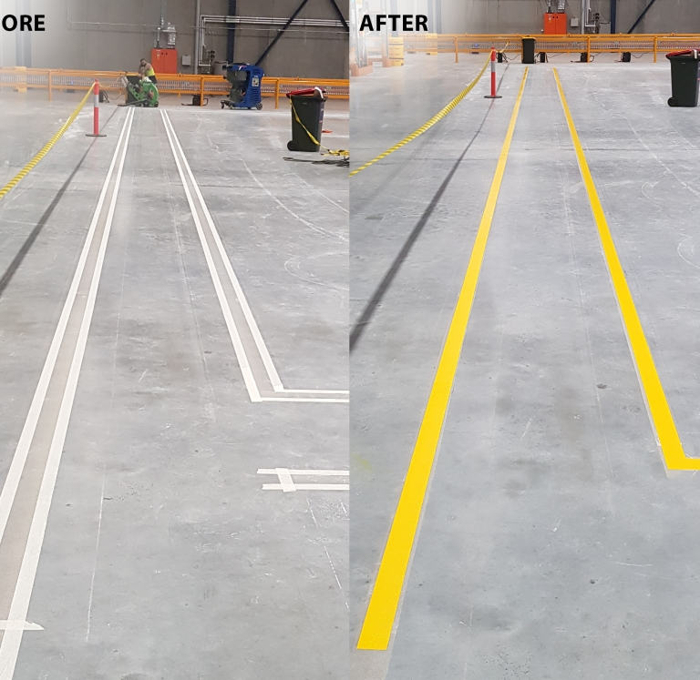 Epoxy Walkway Before and After